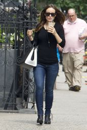 Olivia Wilde in Jeans Out in New York City - June 2014