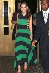 Olivia Wilde In Stella McCartney Dress - Out in New York City - June 2014