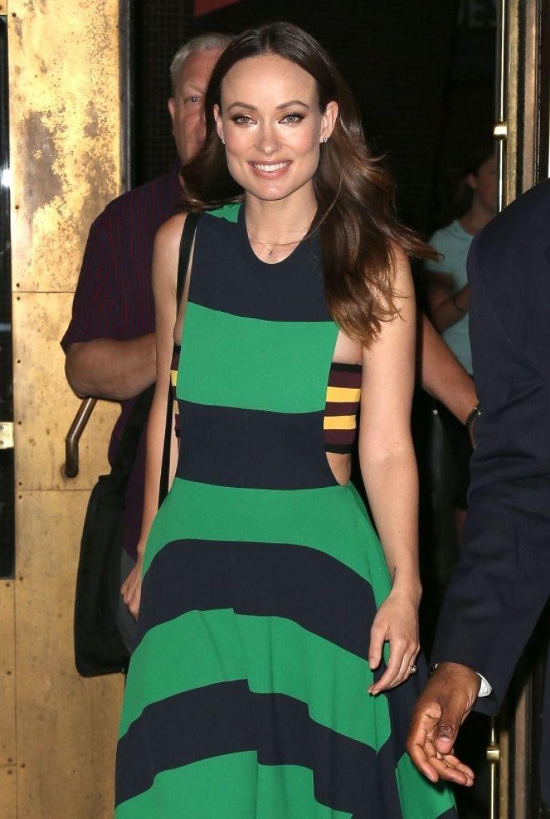 Olivia Wilde In Stella McCartney Dress - Out in New York ...