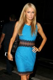 Paris Hilton Night Out Style - Leaving the RivaBella Restaurant in Los Angeles - June 2014