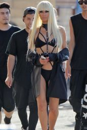 Paris Hilton on the Set of Her New Music Video in Los Angeles - June 2014