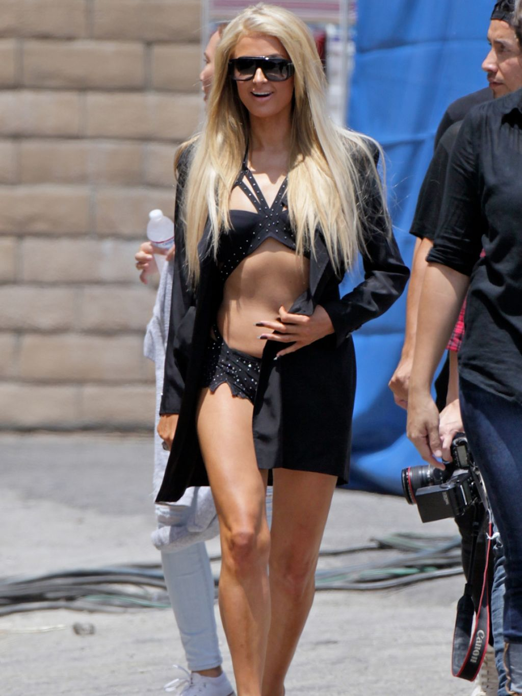 Paris Hilton On The Set Of Her New Music Video In Los