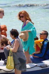 Patsy Palmer Bikini Candids - Enjoying a Day at the Beach in Ibiza - June 2014