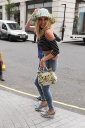 Pixie Lott in Tight Jeans at the BBC in Portland Place London - June 2014