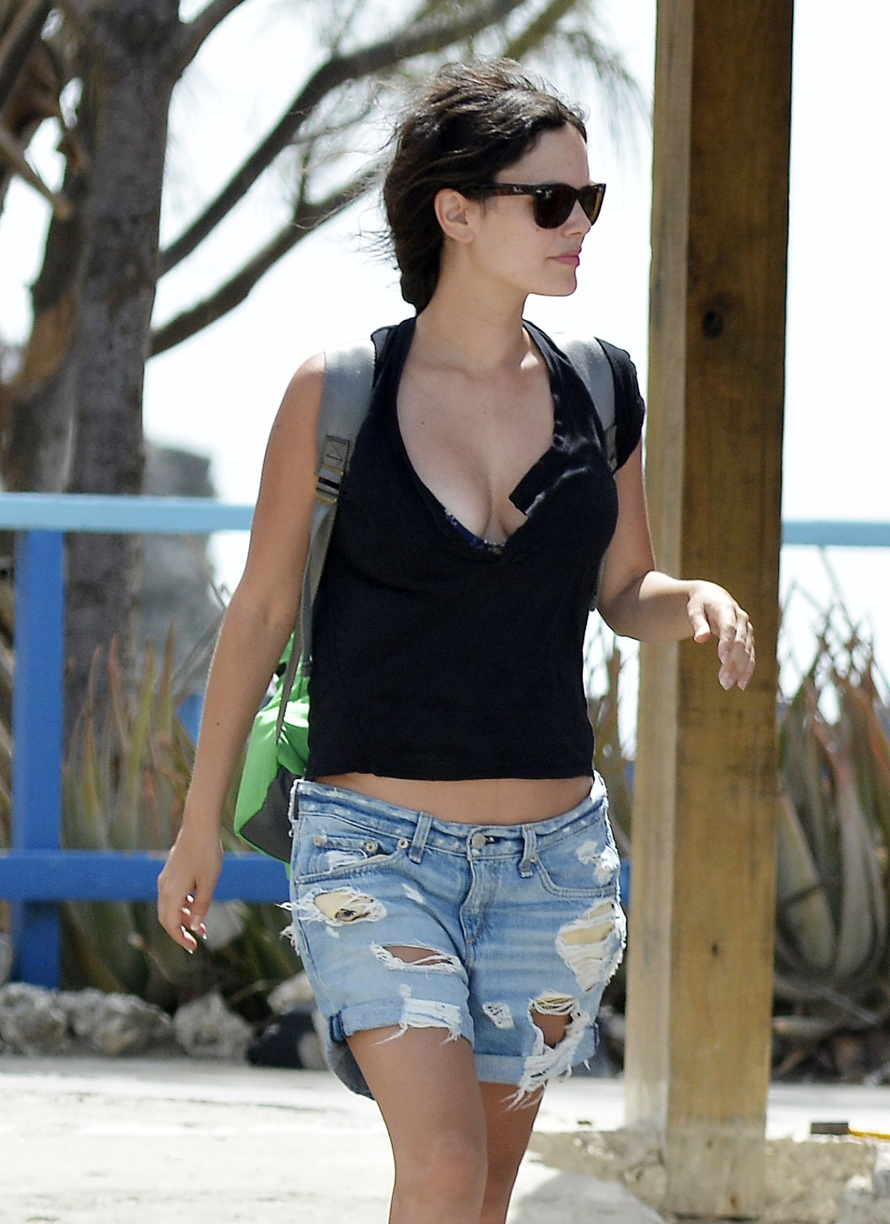 Rachel Bilson in Shorts - Out in Barbados - June 2014