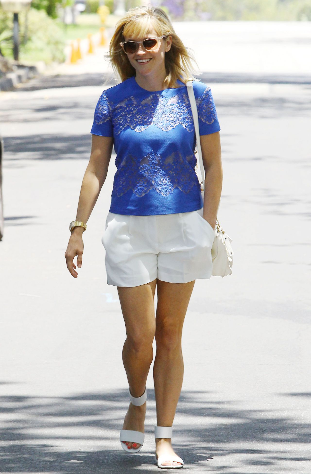 Reese Witherspoon in Shorts - Out in Los Angeles - June 2014