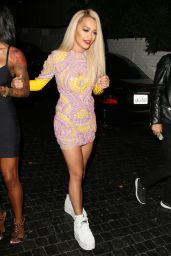 Rita Ora Night Out Style - at Chateau Marmont in West Hollywood - June 2014