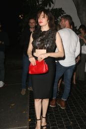 Rose McGowan Night Out Style - Chateau Marmont in West Hollywood - June 2014