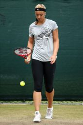Sabine Lisicki – Wimbledon Tennis Championships 2014 – Practice session on Day Six