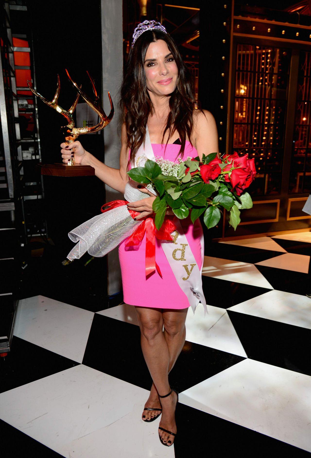 Sandra Bullock in Roland Mouret Dress – 2014 Spike TV's Guys Choice Awards