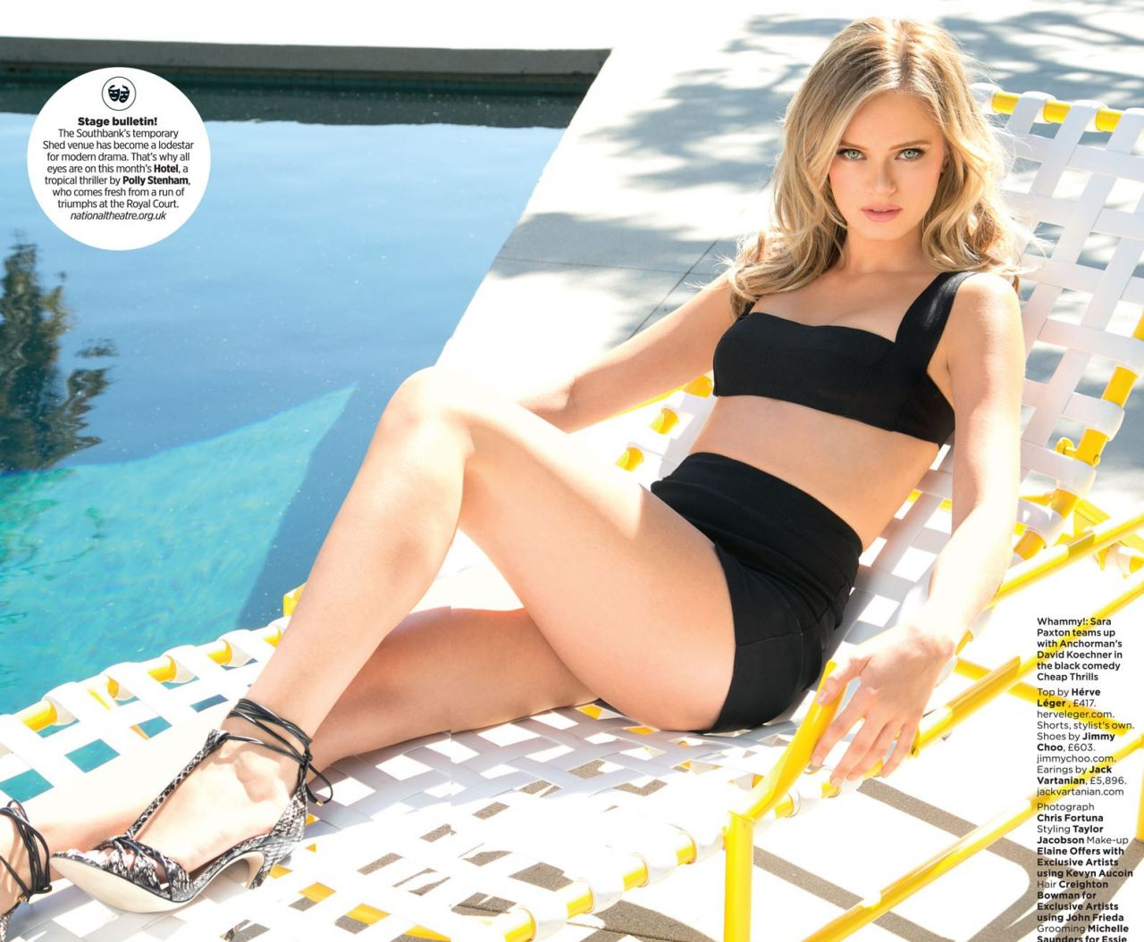 Sara Paxton - GQ Magazine (UK) June 2014 Issue