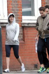 Scarlett Johansson in Leggings - Out in London - June 2014