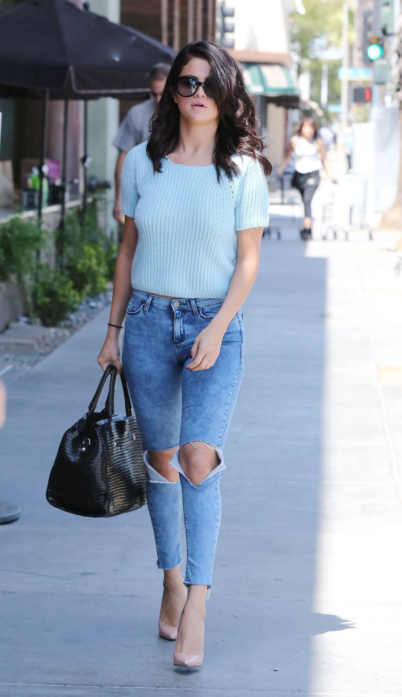 selena gomez in jeans - out in los angeles