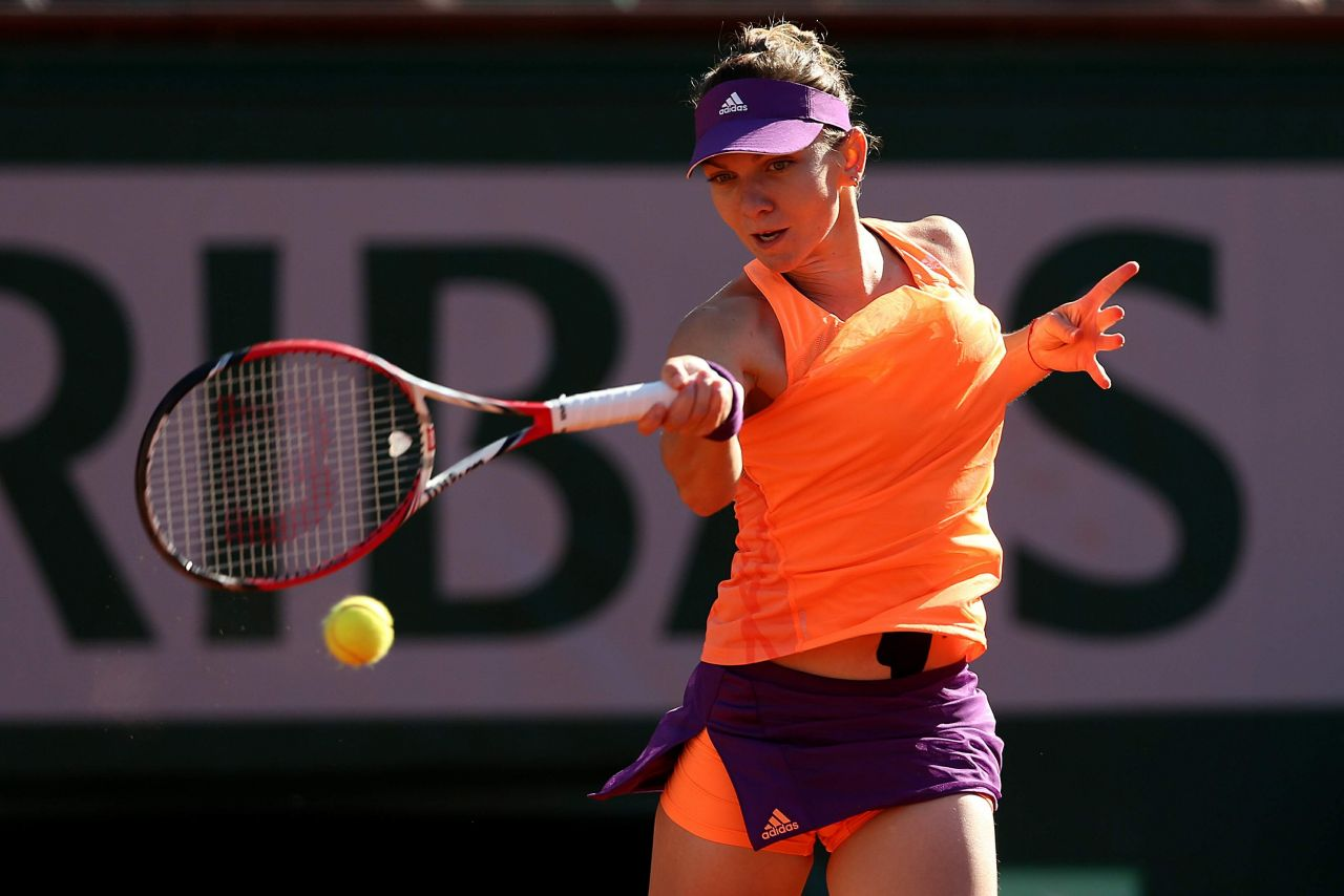 Simona Halep 2014 French Open At Roland Garros Semifinals