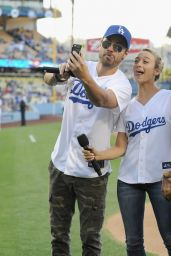 Sophia Bush at a Dodgers Game in Los Angeles - June 2014