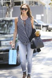 Stacy Keibler in Jeans - Out in Los Angeles - May 2014
