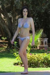 Tamara Ecclestone in a Bikini at Hotel Pool in Morocco