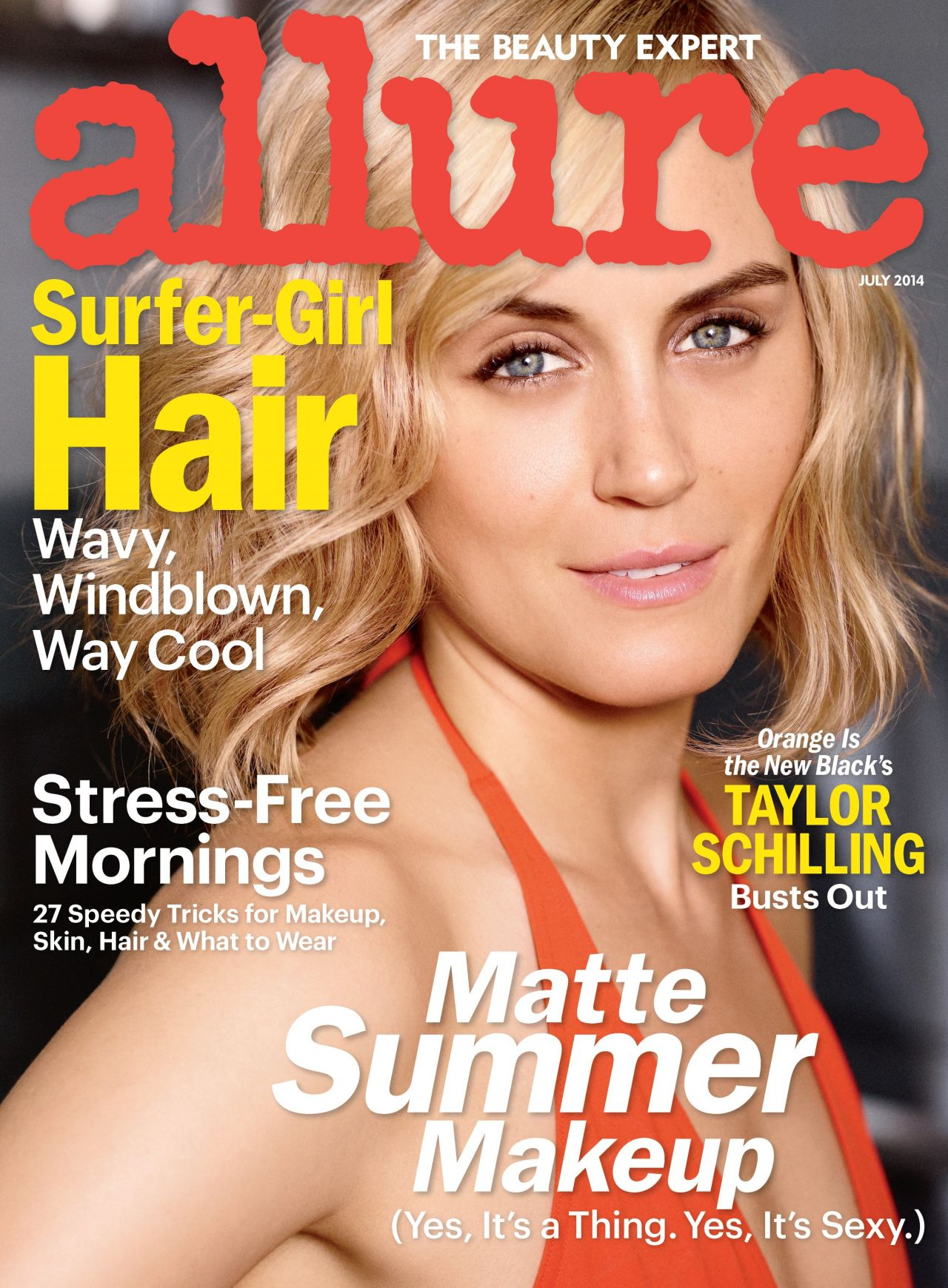 Taylor Schilling - Allure Magazine - July 2014 Cover