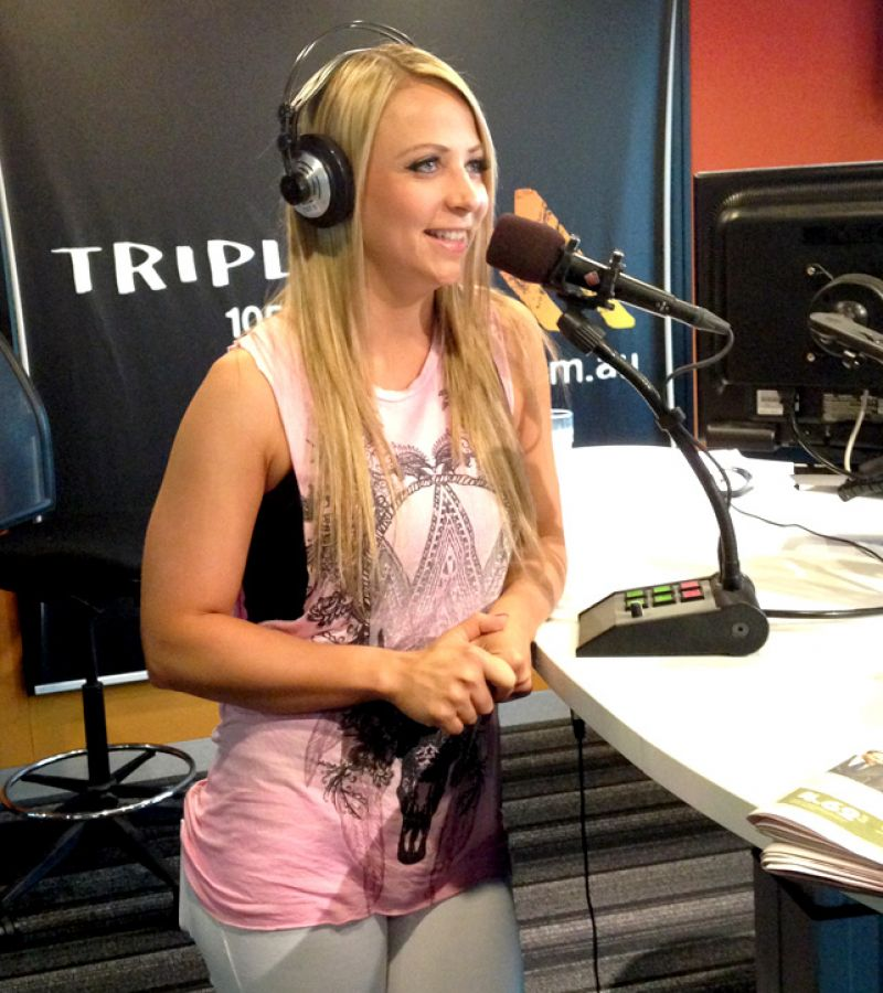 Tenille Dashwood Emma Promoting Wwe In Australia