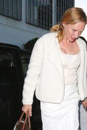 Uma Thurman Night Out Style - Beverly Hills, June 2014