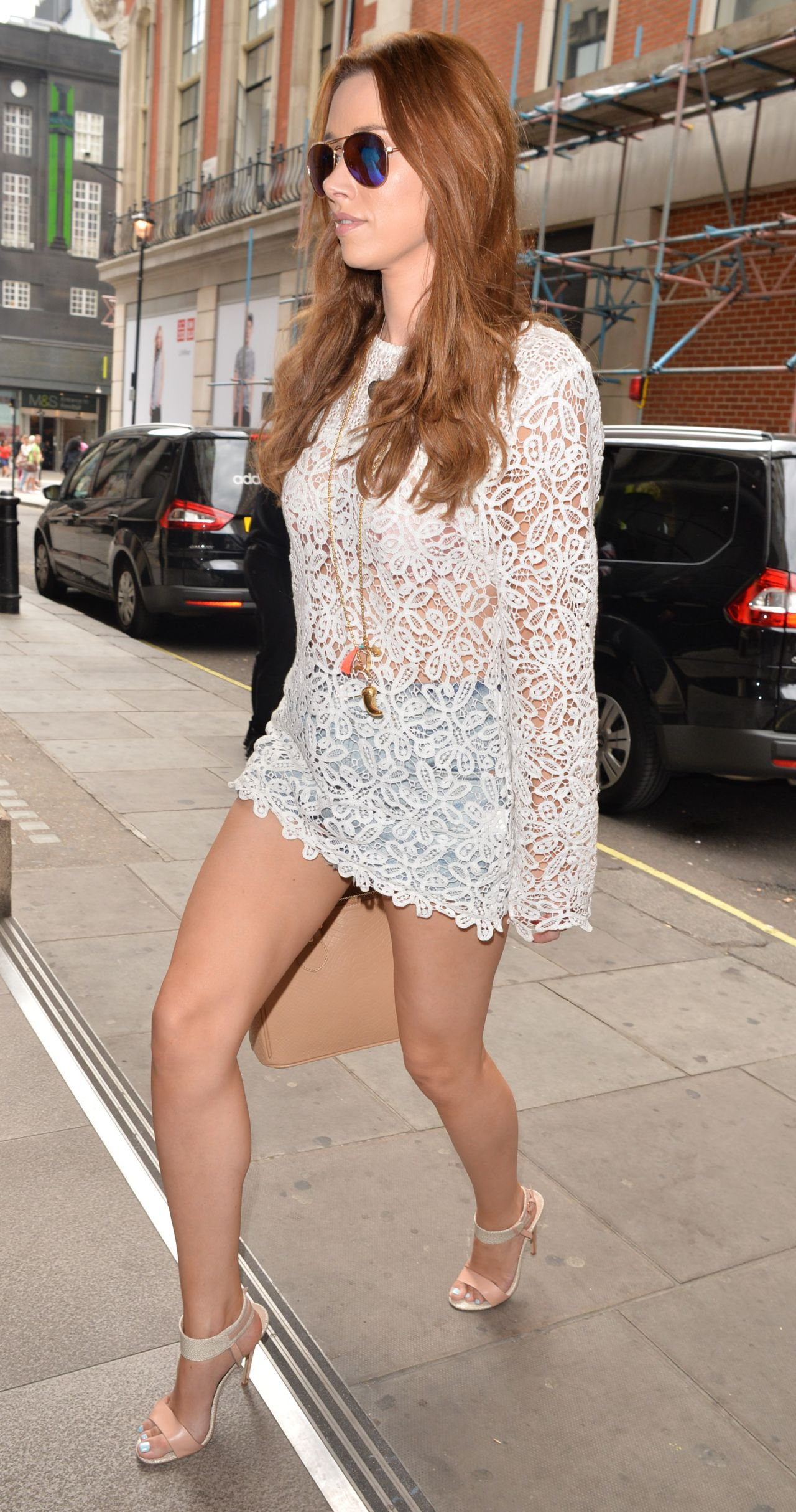 Una Healy Shows Off Her Legs - Outside the BBC Radio 1 ...