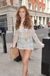 Una Healy Shows Off Her Legs - Outside the BBC Radio 1 Studios in London - June 2014