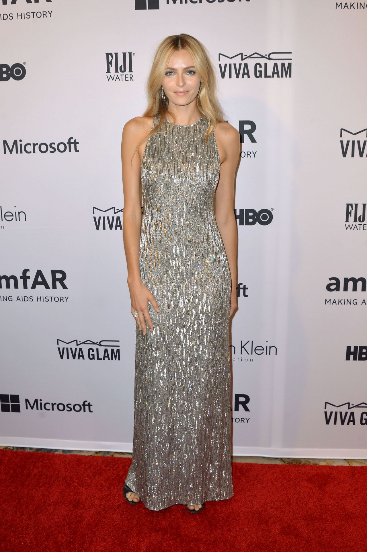 Valentina Zelyaeva at amfAR Inspiration Gala New York - June 2014