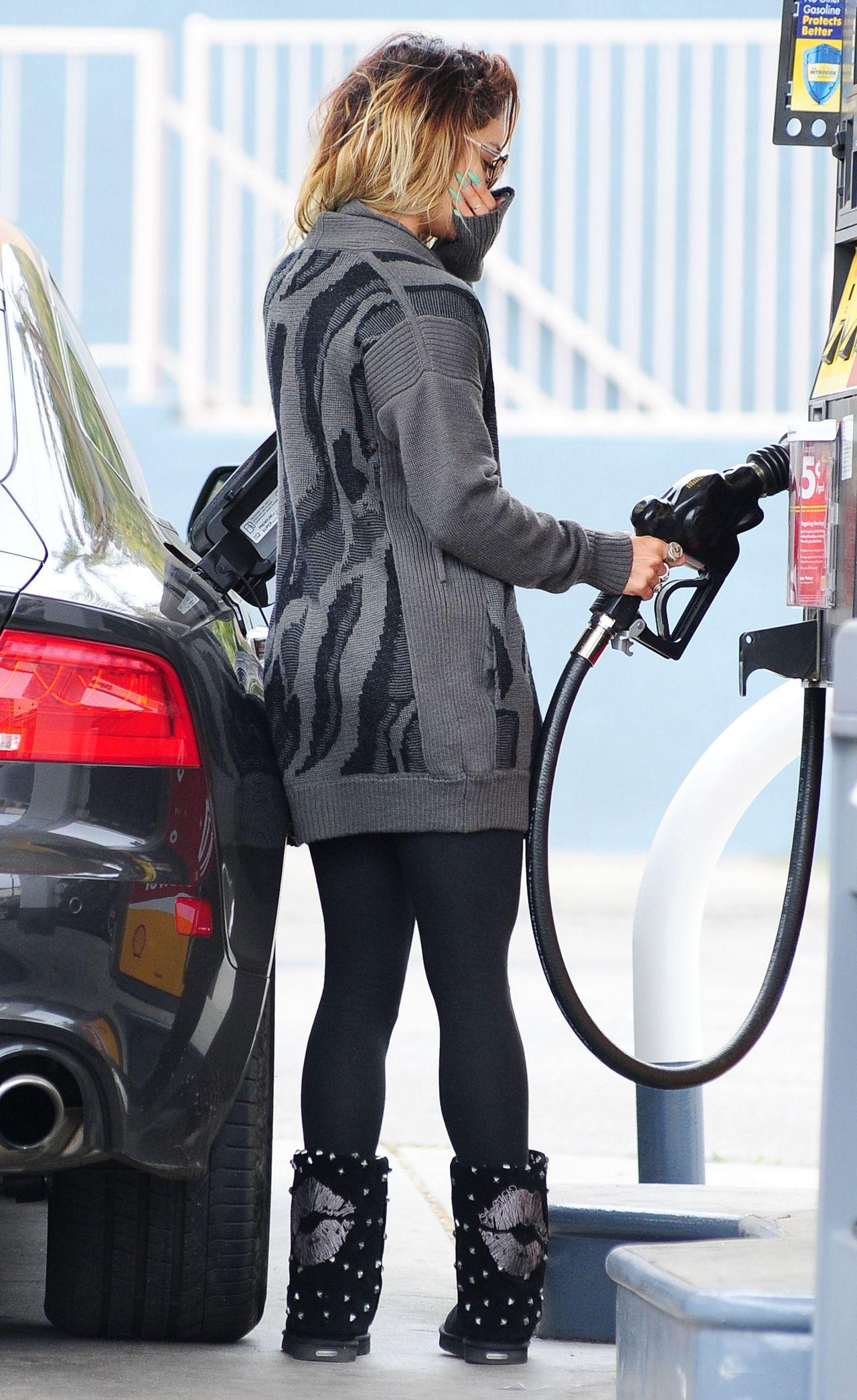 Vanessa Hudgens - After Yoga at a Gas Station - June 2014