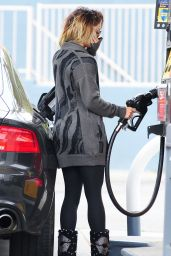Vanessa Hudgens - After Yoga at a Gas Station - June 2014