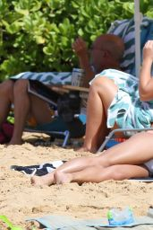 Vanessa Hudgens in a White Bikini at a Beach in Hawaii - June 2014