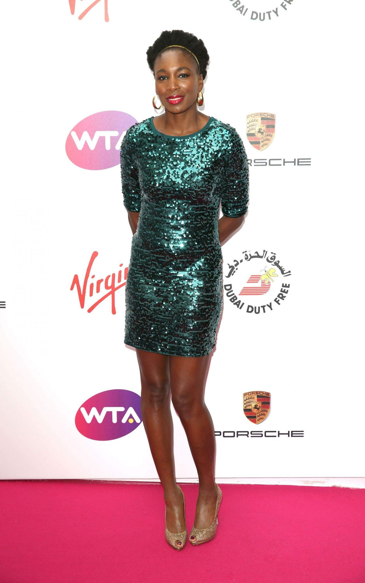 Venus Williams – WTA Pre-Wimbledon 2014 Party at Kensington Roof Gardens in London