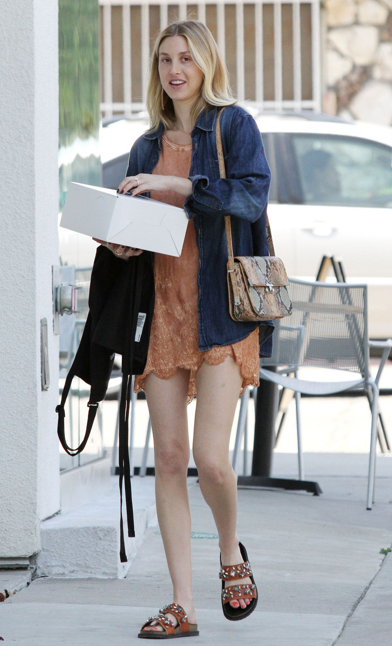 Whitney Port Street Style - With a Cake in West Hollywood ...