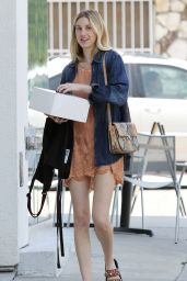 Whitney Port Street Style - With a Cake in West Hollywood - May 2014