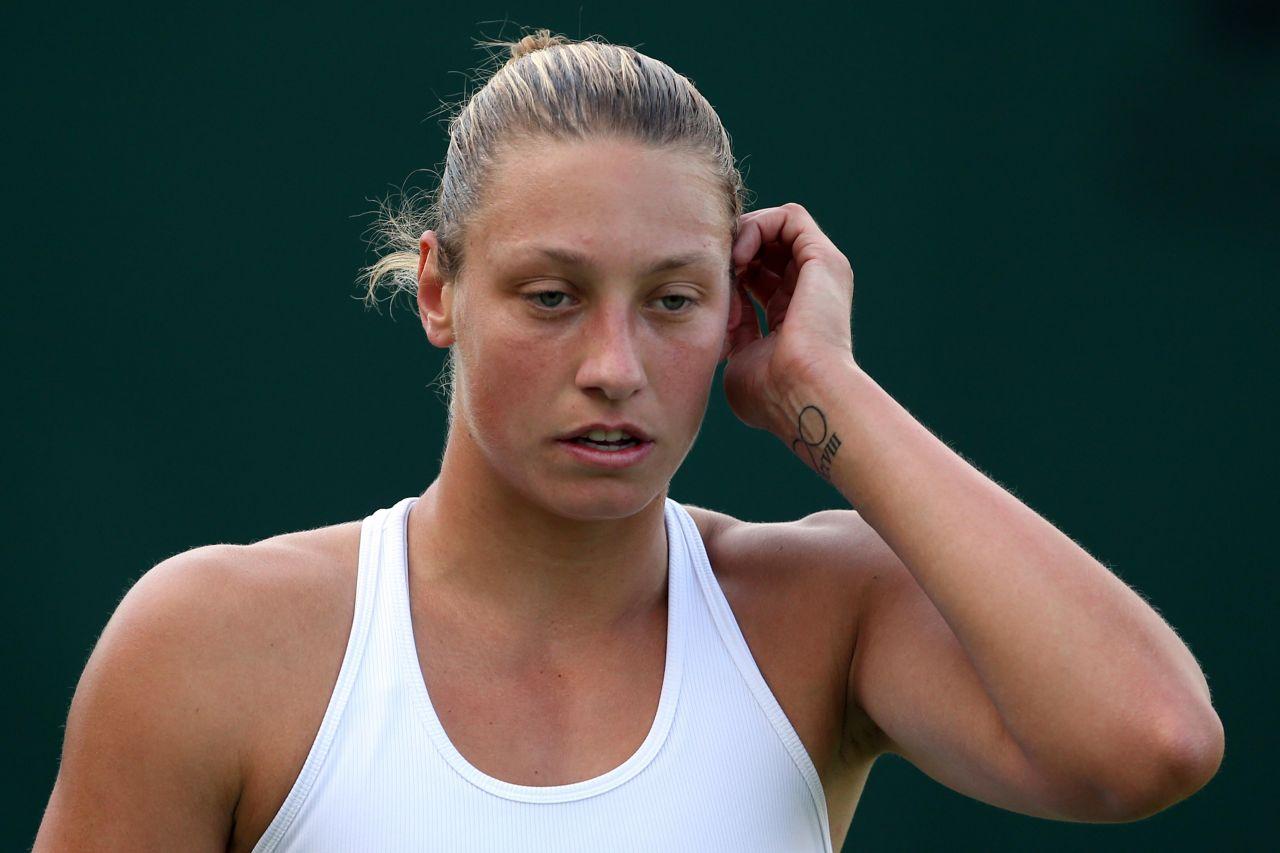 Yanina Wickmayer Wimbledon Tennis Championships 2014