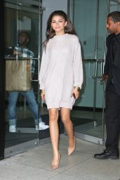 Zendaya Shows Off Legs - Leaving the 106 and Park Studios in NYC