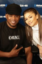 Zendaya Visited SiriusXM Studios in NYC - June 2014