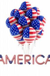 America-flag-balloons