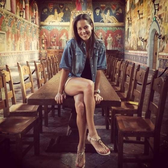 Ana Ivanovic Leggy - Instagram, July 2014