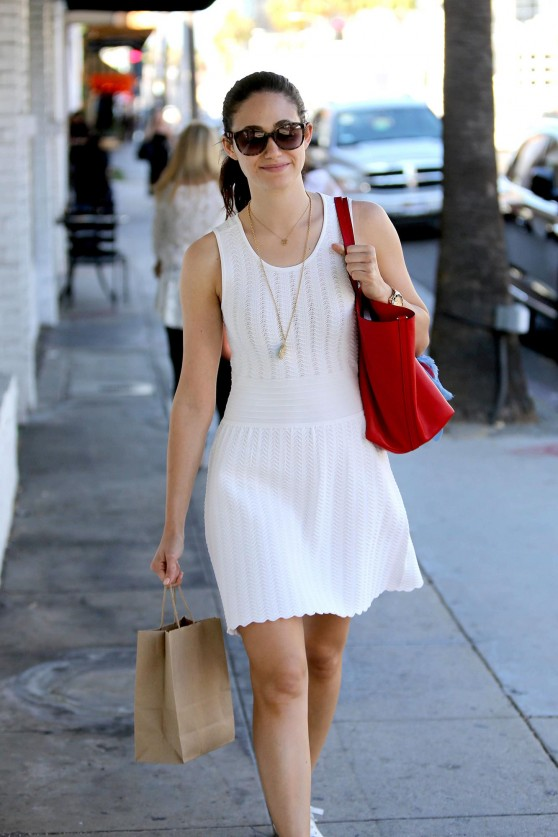 Emmy Rossum Leaving Kreation Juicery in Beverly Hills - July 2014
