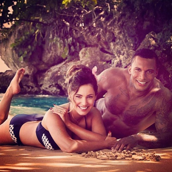 Kelly Brook and Her Boyfriend  David Mcintosh - Instagram Pics, June 2014