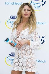Abbey Clancy Hot Legs - Launch of Scholl Pop Up Pedicure Beach in London