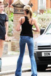 Abbey Clancy Street Style - London Candids - July 2014