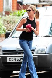 Abbey Clancy Street Style - London Candids - July 2014