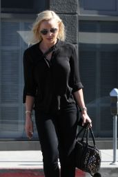 Abbie Cornish All in Black Style - Out in West Hollywood - July 2014