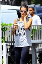Alessandra Ambrosio in Tightsat the Brentwood County Mart - July 2014