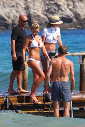 Alex Gerrard Bikini Candids - Beach in Ibiza – July 2014