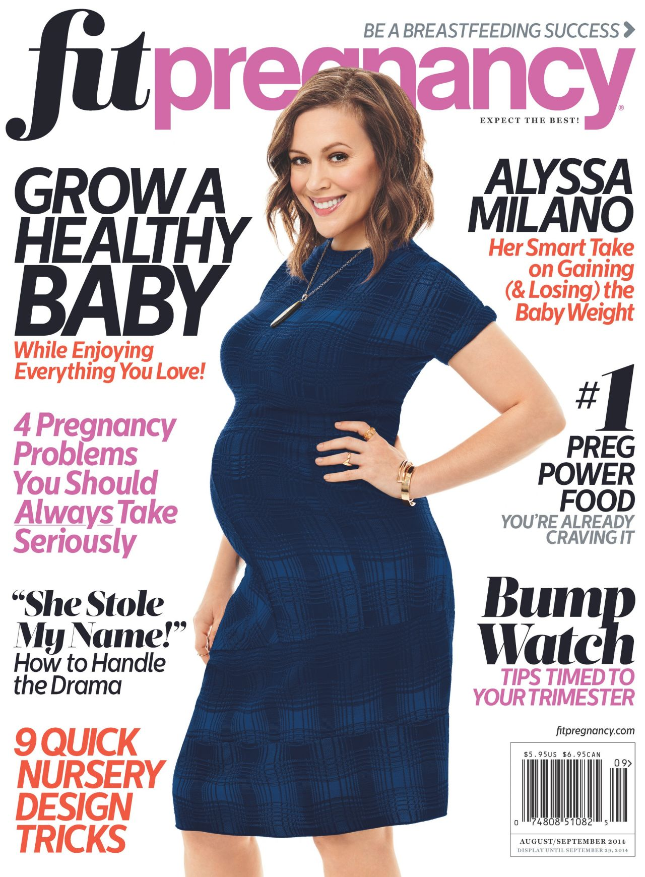 Alyssa Milano Fit Pregnancy Magazine August September