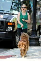 Amanda Seyfried in Leggings - Out in Boston - 7/25/14