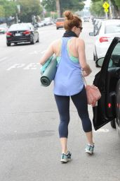Amy Adams in Leggings - Leaving a Yoga Class in LA - July 2014