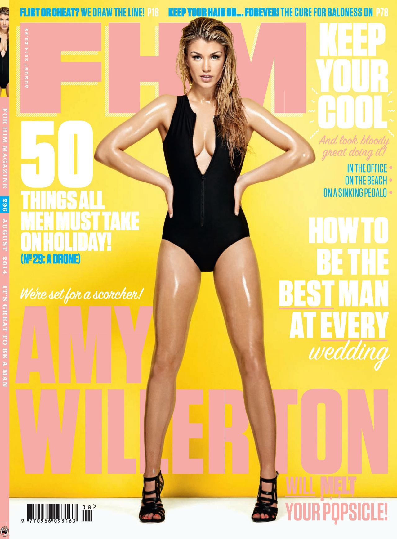 Amy Willerton - FHM Magazine (UK) - August 2014 Cover